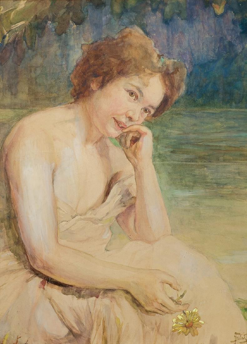 Falat Julian - RED-HAIRED WOMAN PORTRAIT, CIRCA 1900