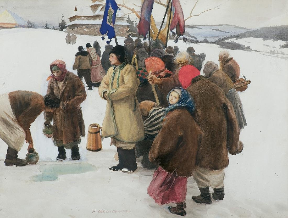 Axentowicz Teodor - BLESSING OF THE WATER