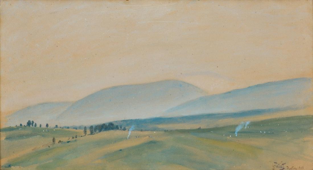 Falat Julian - AUTUMN LANDSCAPE FROM BYSTRA, 1919