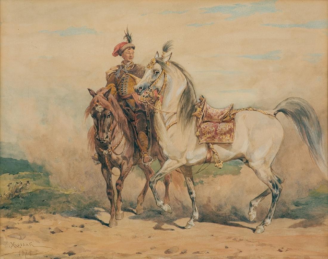 Kossak Juliusz - WHITE HORSE, 1874