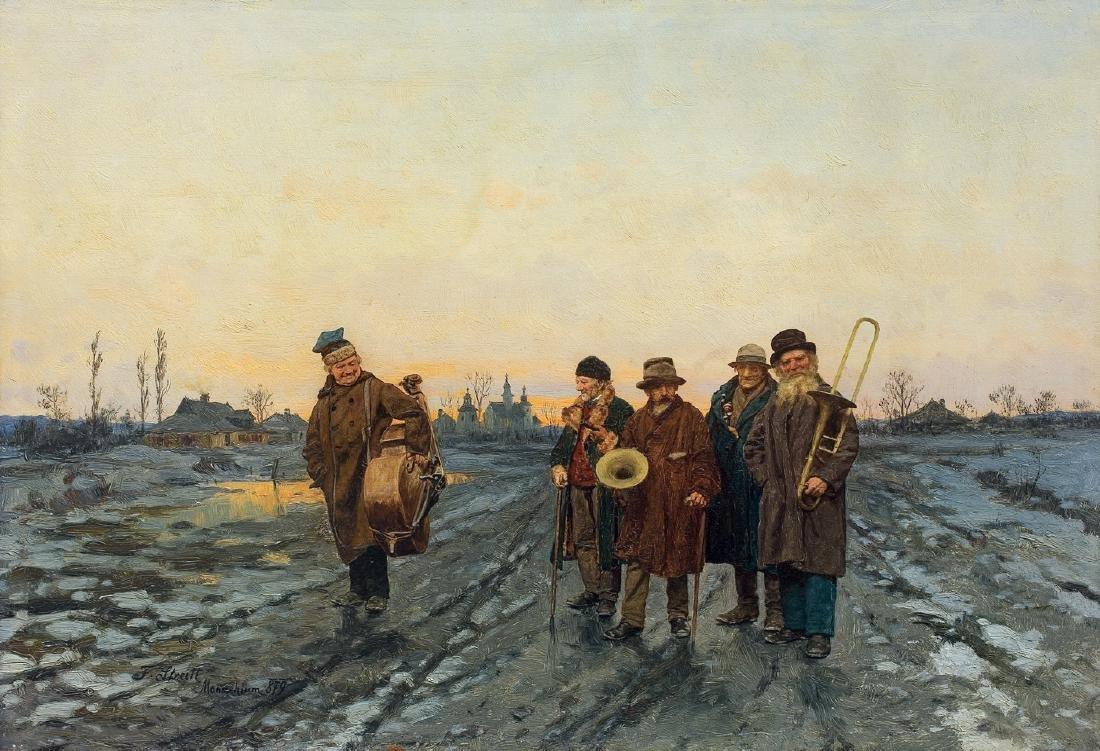 Streitt Franciszek - WANDERING MUSICIANS, 1879