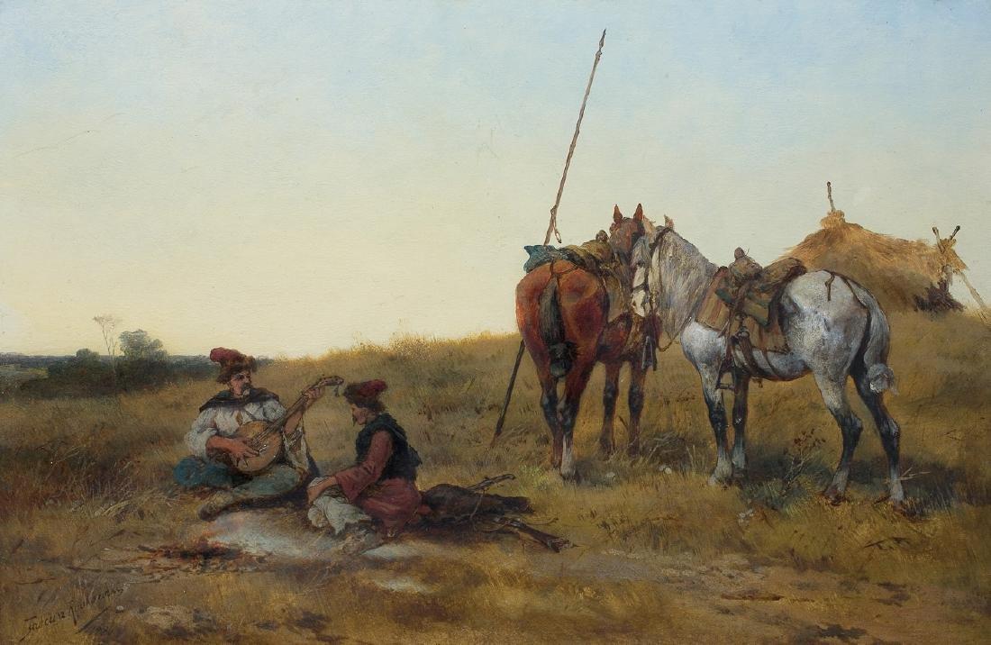 Rybkowski Tadeusz - COSSACKS RESTING ON A STEPPE, 1886