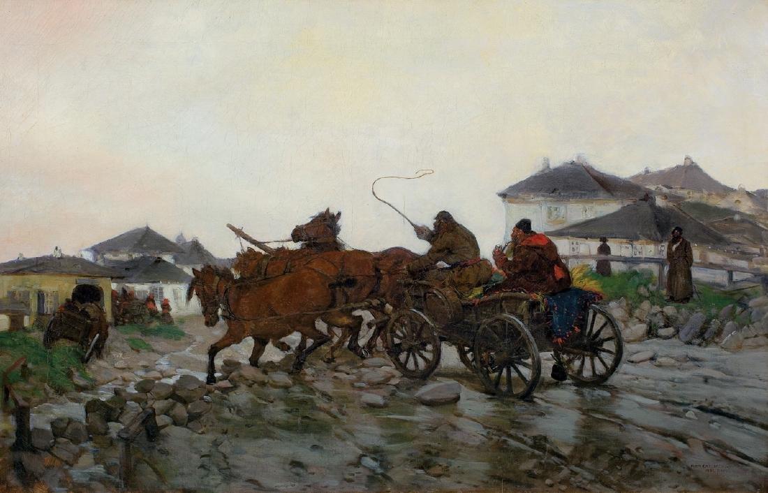 Chelmonski Jozef - MUDDY ROAD, 1882