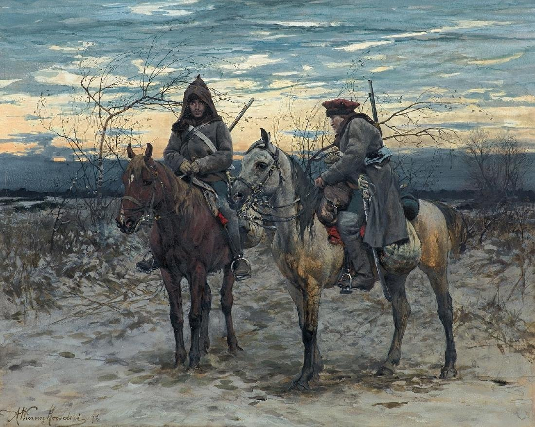 Wierusz-Kowalski Alfred - HORSE PATROL, 1878