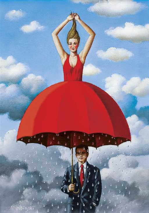 Olbinski Rafal Red Umbrella