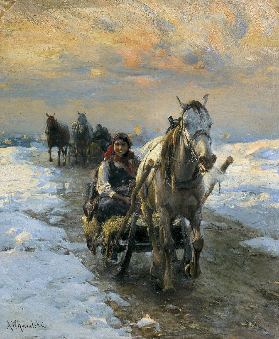 Wierusz-Kowalski Alfred - SLEDGE RIDE, 1890