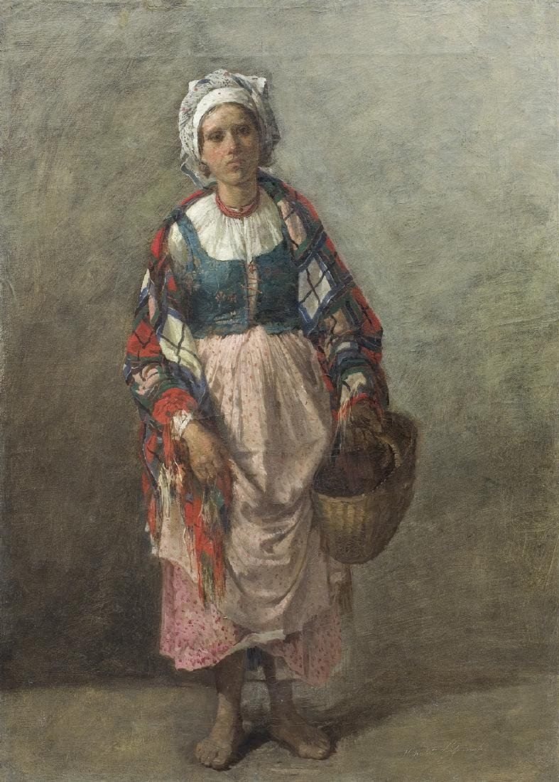 Lipinski Hipolit - A PEASANT WOMAN FROM CRACOW