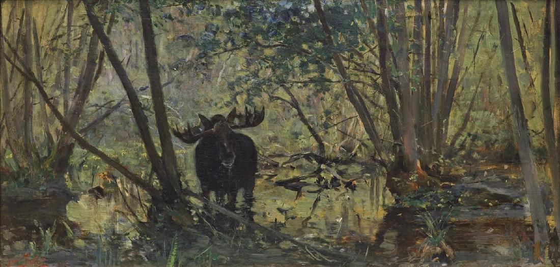 Falat Julian - MOOSE IN THE SWAMP, 1897