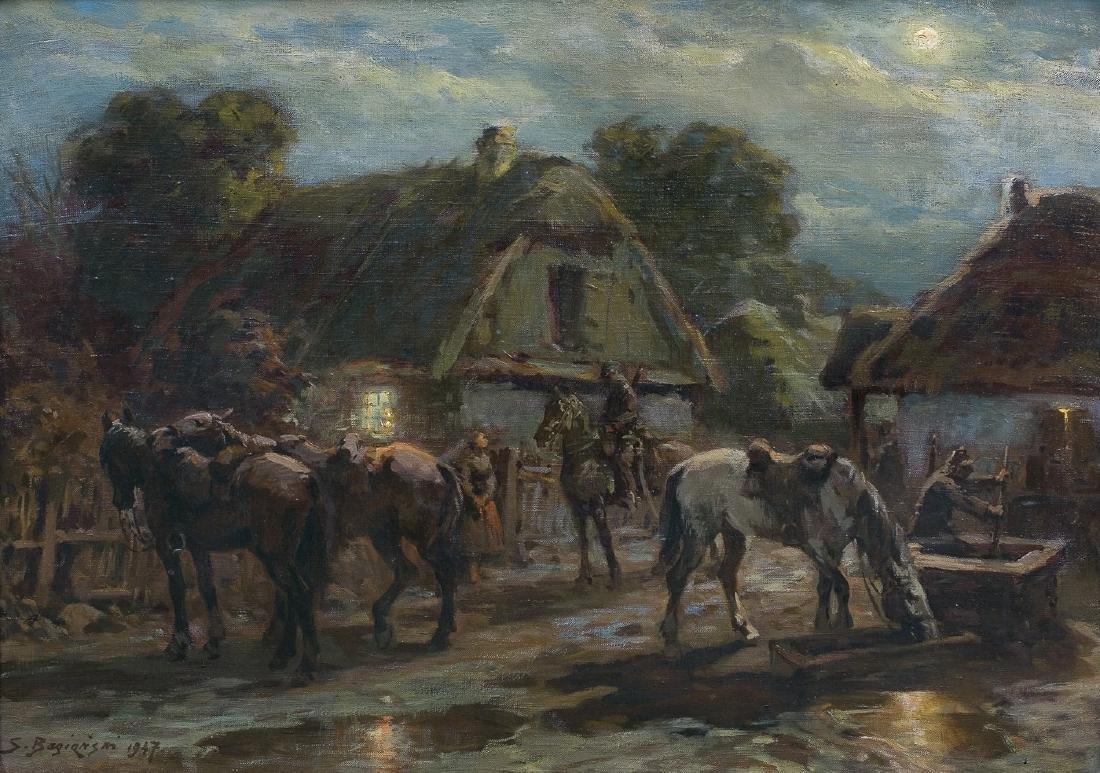 Bagienski Stanislaw - ULANS RESTING, 1947