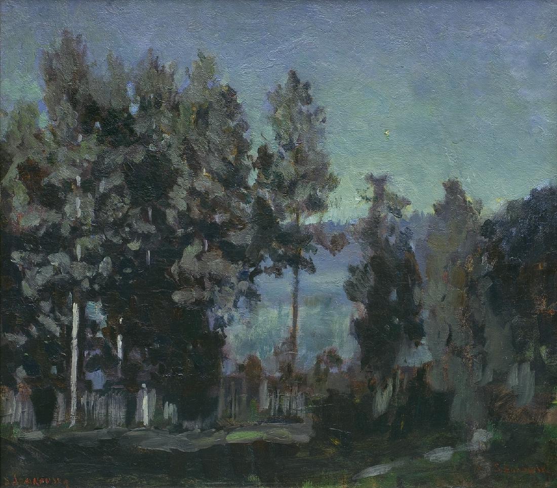 zukowski Stanislaw - NIGHT OVER LAKE, 1919