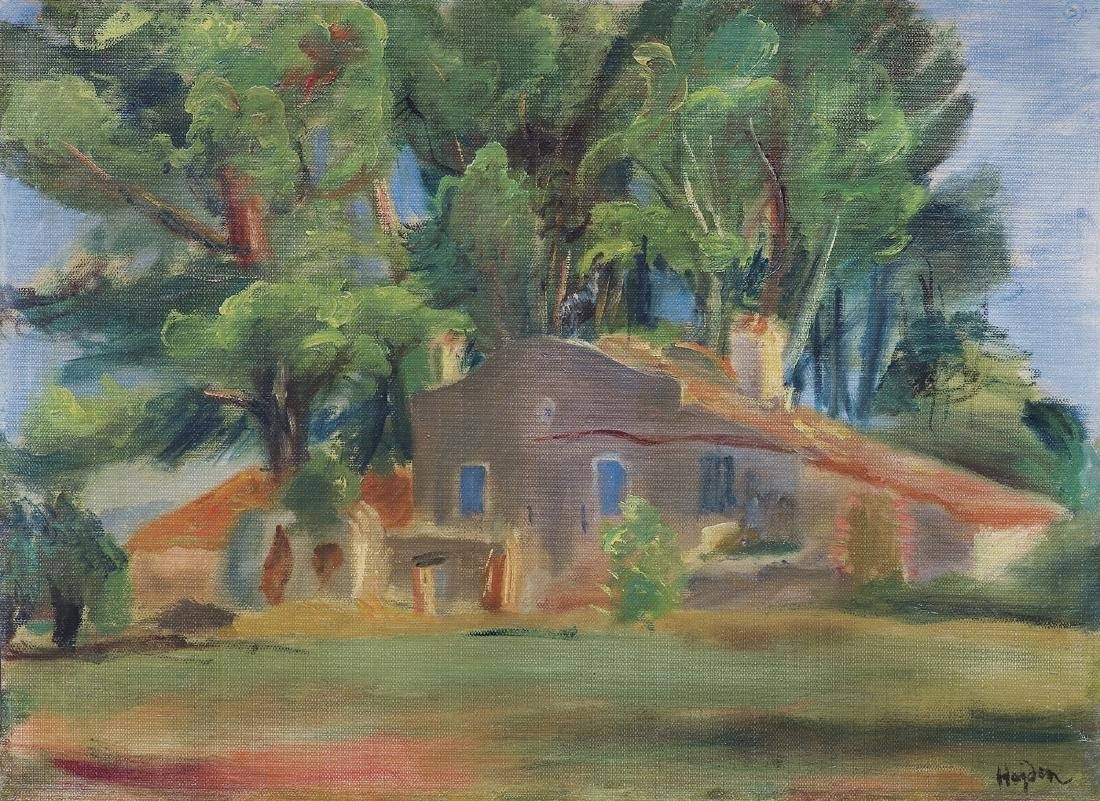 Hayden  Henryk - LANDSCAPE WITH THE HOUSE AMONG THE