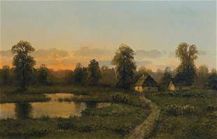 Korecki Wiktor - SUNSET OVER THE POND