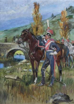 Kossak Wojciech - POLISH CAVALRY AT SOMOSIERRA, 1940