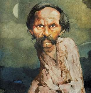 Duda Gracz Jerzy - PORTRAIT OF BOHDAN SMOLEN, 1988