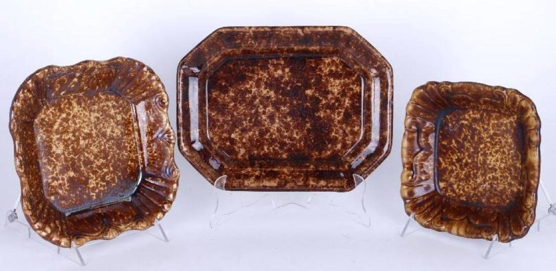 THREE BENNINGTON TRAYS, 19THC.