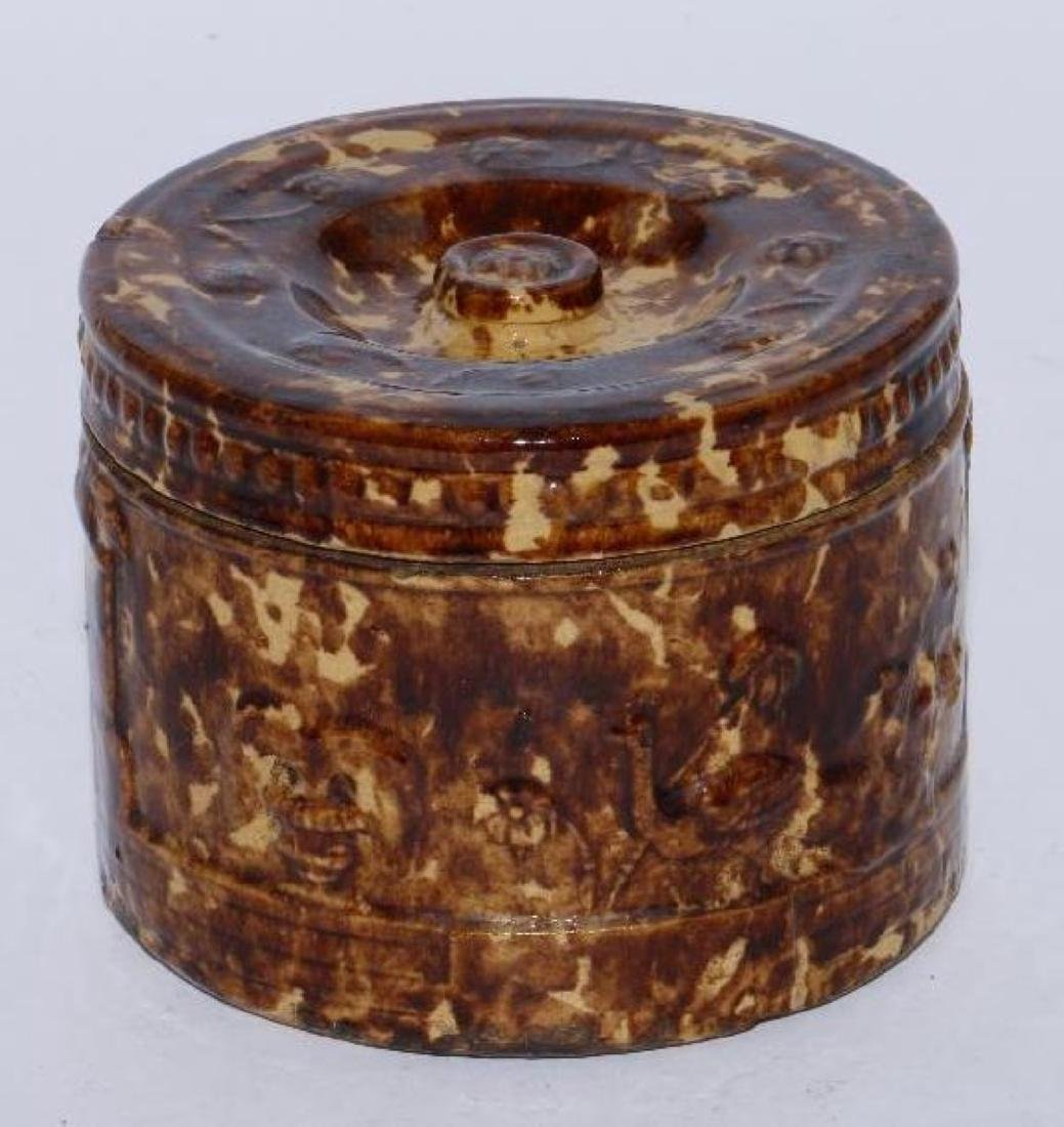 A BENNINGTON TOBACCO JAR, 19THC.