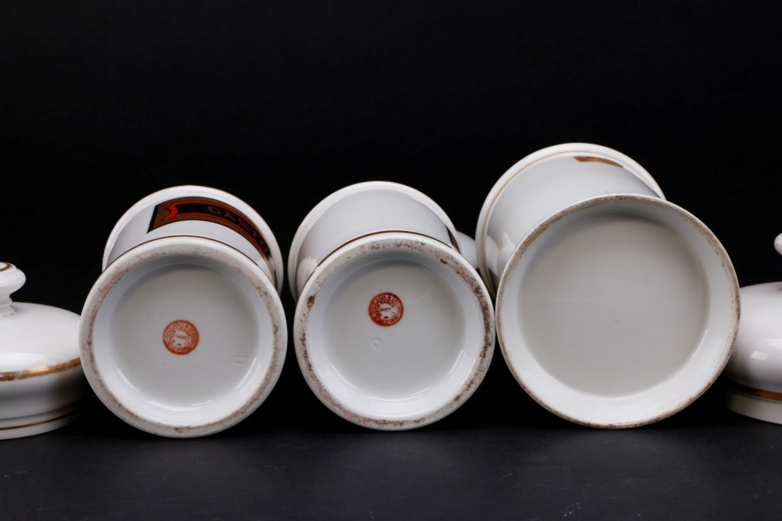 THREE FRENCH PORCELAIN APOTHECARY JARS, 19TH CENTURY - 3