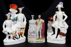 THREE STAFFORDSHIRE FIGURAL GROUPS, 19TH/20TH CENTURY