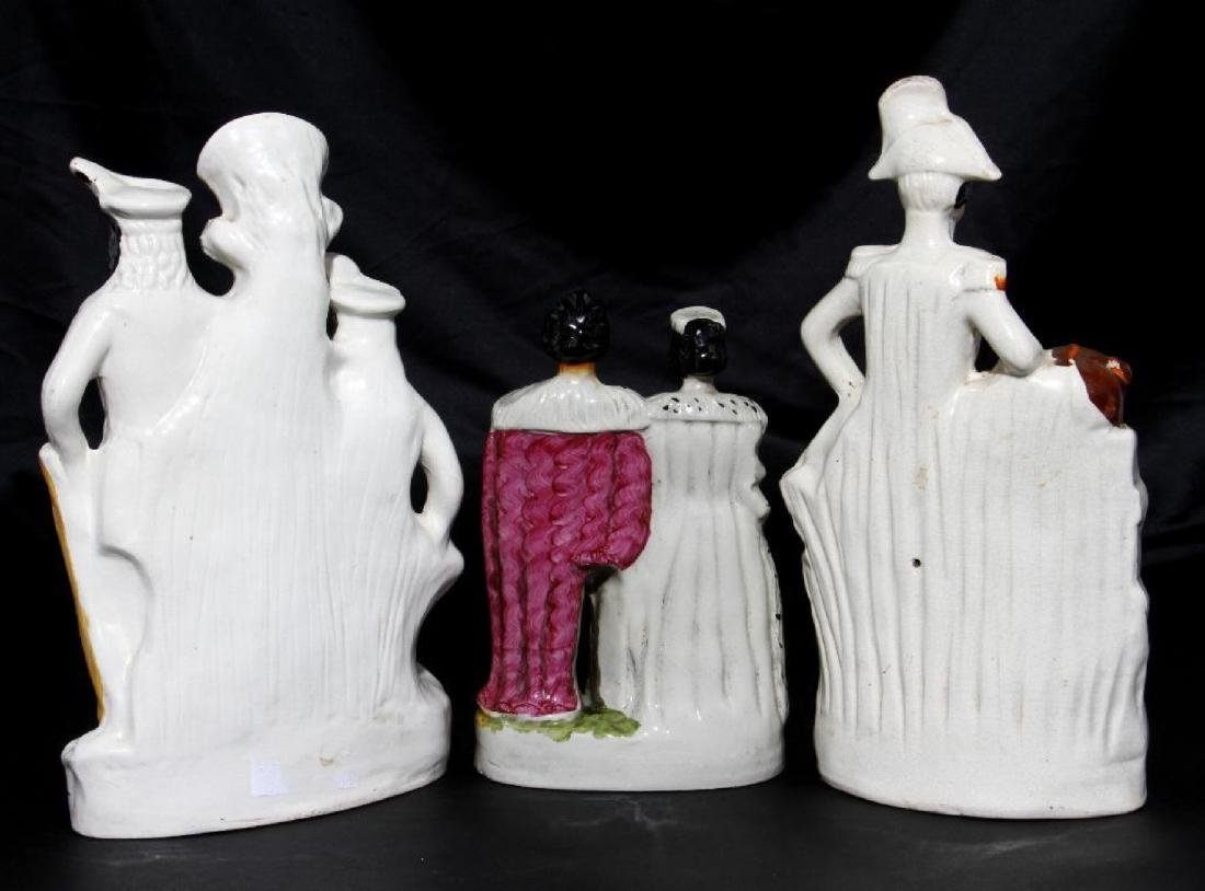 THREE STAFFORDSHIRE FIGURAL GROUPS, 19TH/20TH CENTURY - 2