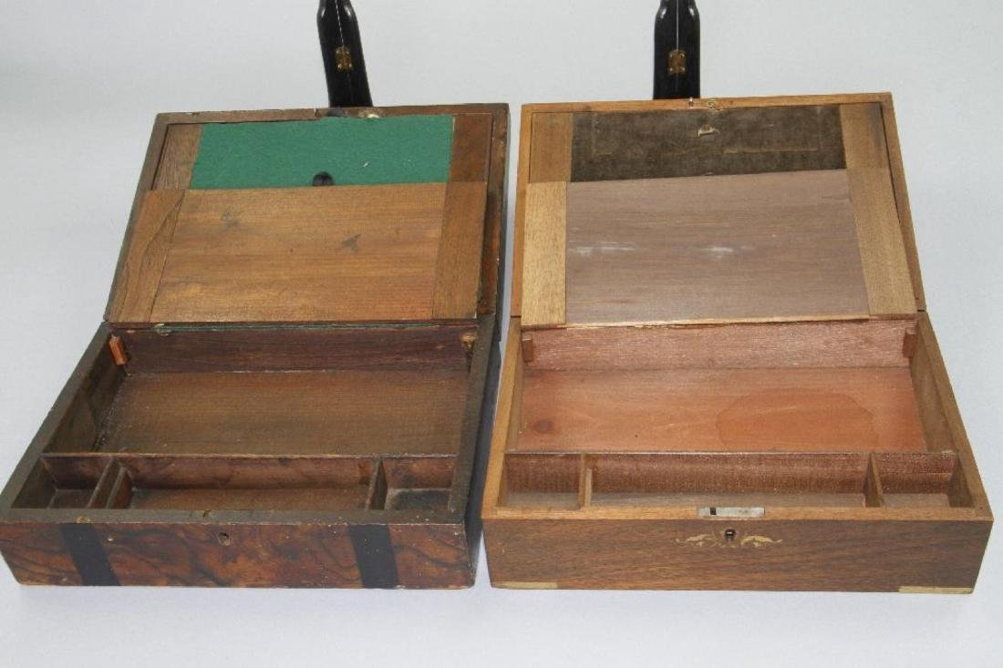 TWO HARDWOOD LAP DESKS, 19TH CENTURY - 4