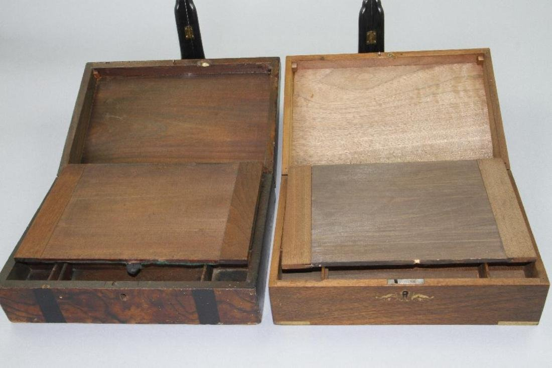 TWO HARDWOOD LAP DESKS, 19TH CENTURY - 5