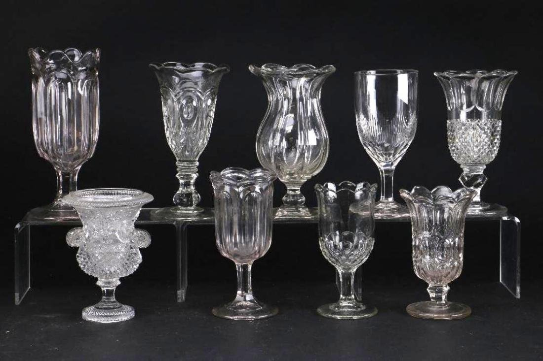 EIGHT MOLDED GLASS VASES, 19TH CENTURY - 2