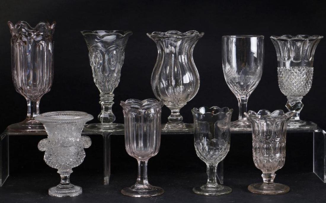 EIGHT MOLDED GLASS VASES, 19TH CENTURY - 3