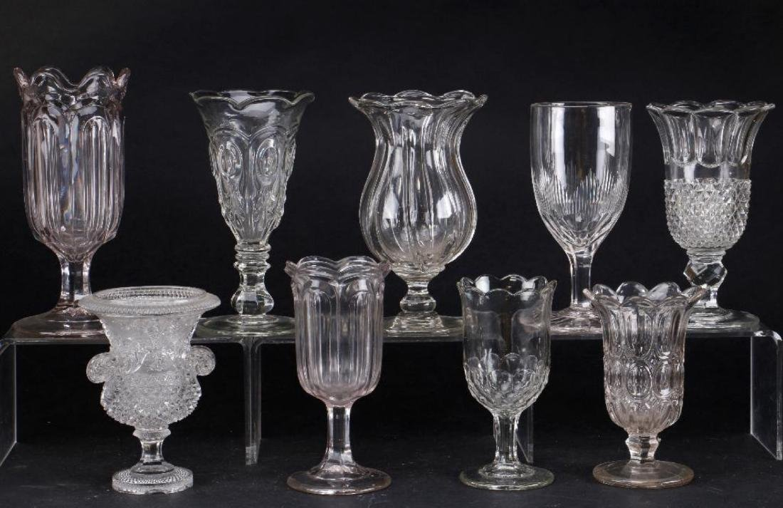 EIGHT MOLDED GLASS VASES, 19TH CENTURY - 4