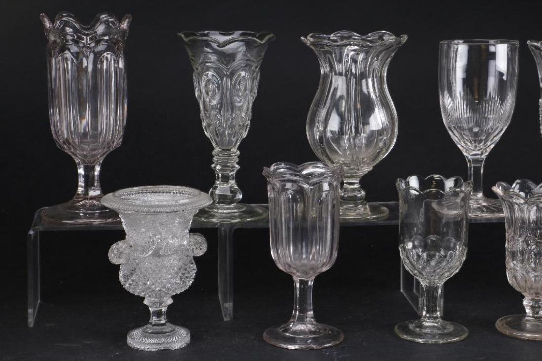 EIGHT MOLDED GLASS VASES, 19TH CENTURY - 5