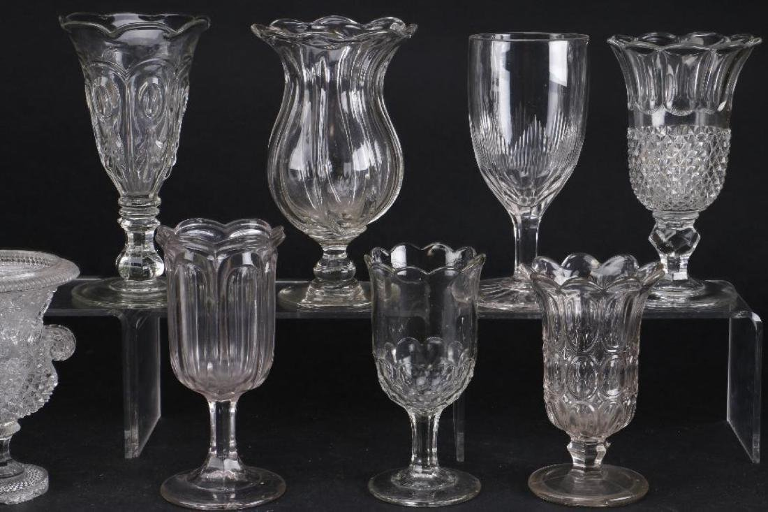 EIGHT MOLDED GLASS VASES, 19TH CENTURY - 6
