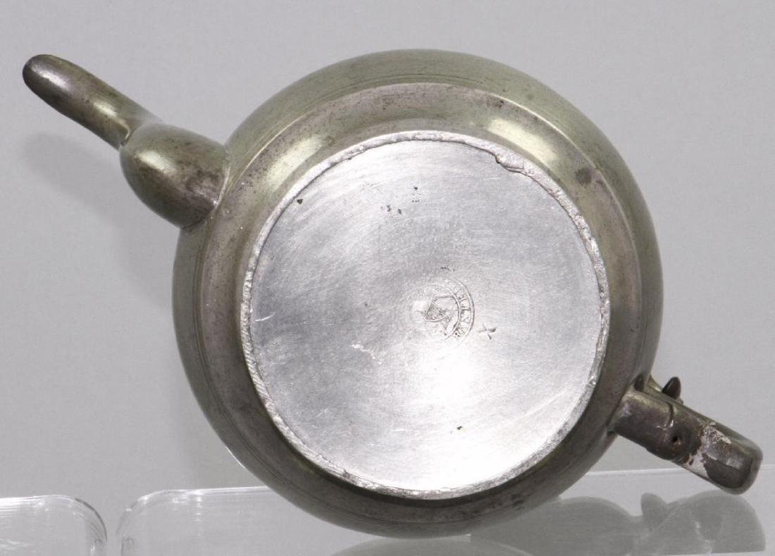 SIX PEWTER AND METAL TEAPOTS, 19TH/20THC. - 4