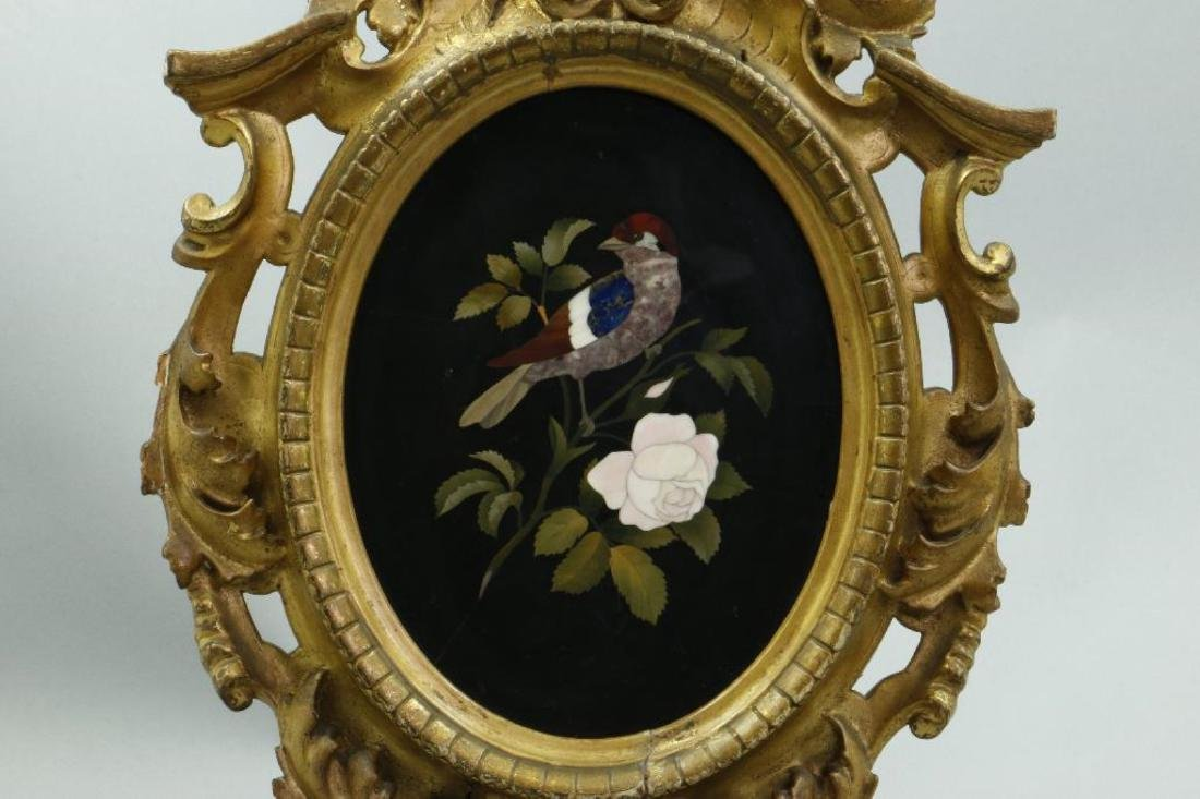 ITALIAN PIETRA DURA PICTURE IN A GILTWOOD FRAME, 19THC. - 2