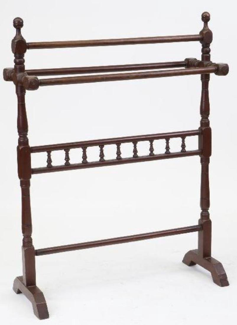 A PAINTED MAHOGANY BLANKET STAND, 19THC.