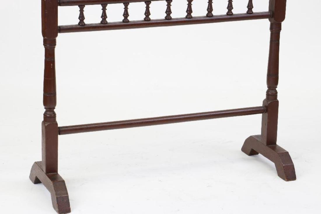 A PAINTED MAHOGANY BLANKET STAND, 19THC. - 4