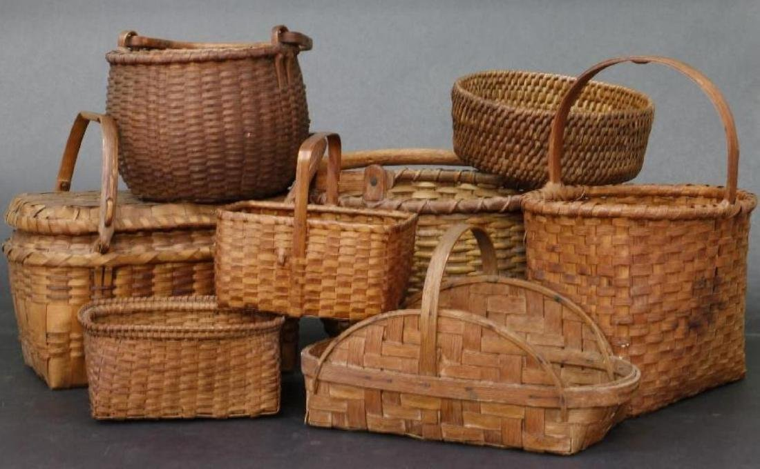 8 SPLIT CANE BASKETS