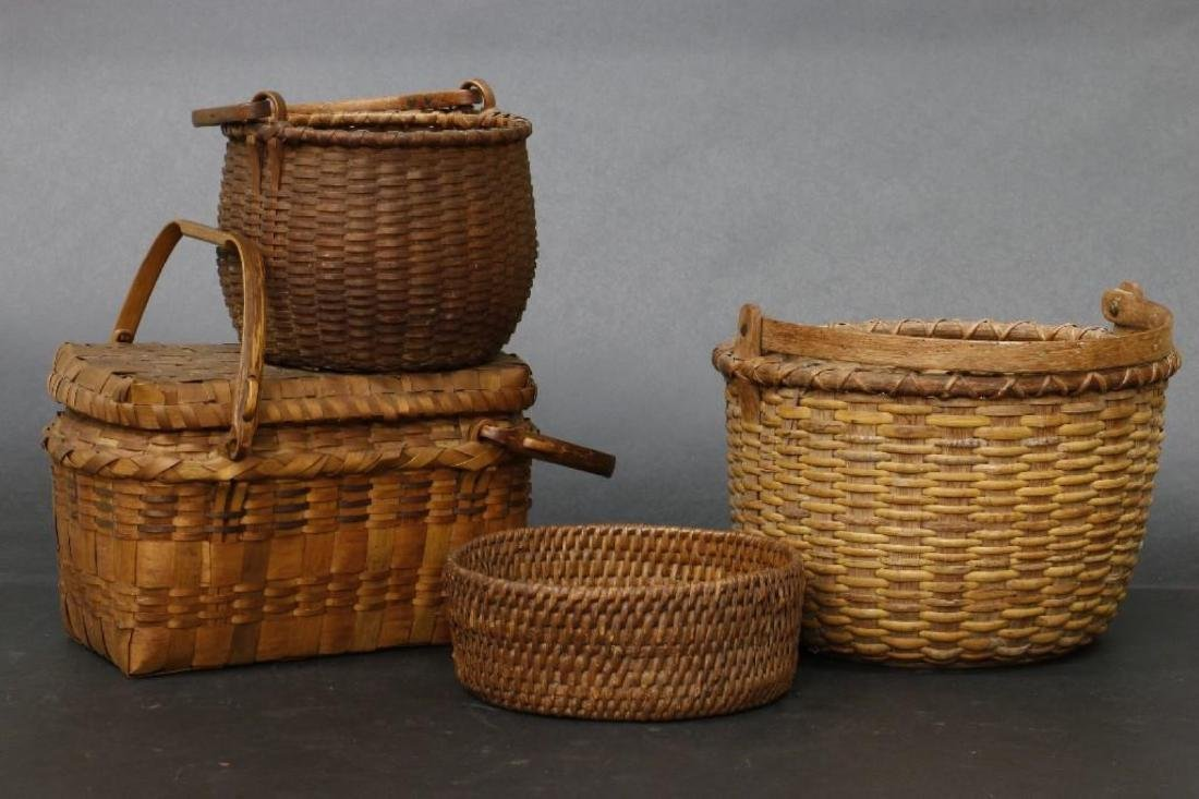 8 SPLIT CANE BASKETS - 2