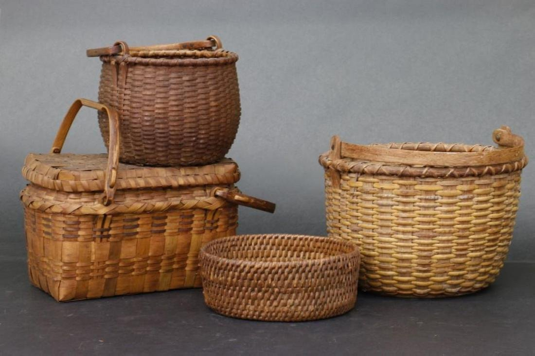 8 SPLIT CANE BASKETS - 3