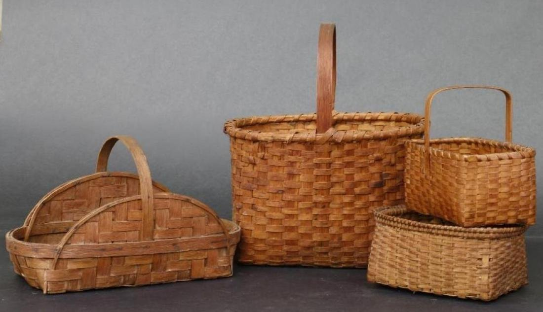 8 SPLIT CANE BASKETS - 4