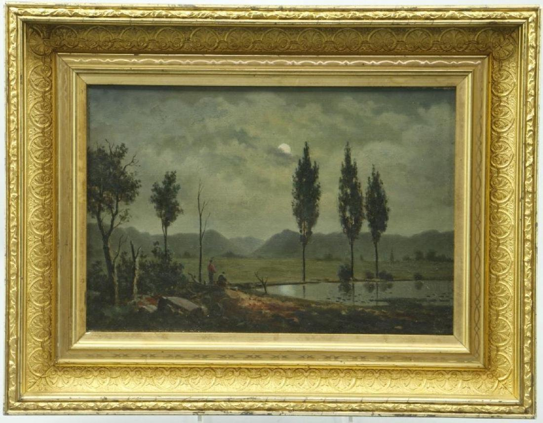 3 AMERICAN OIL LANDSCAPE PAINTINGS - 3
