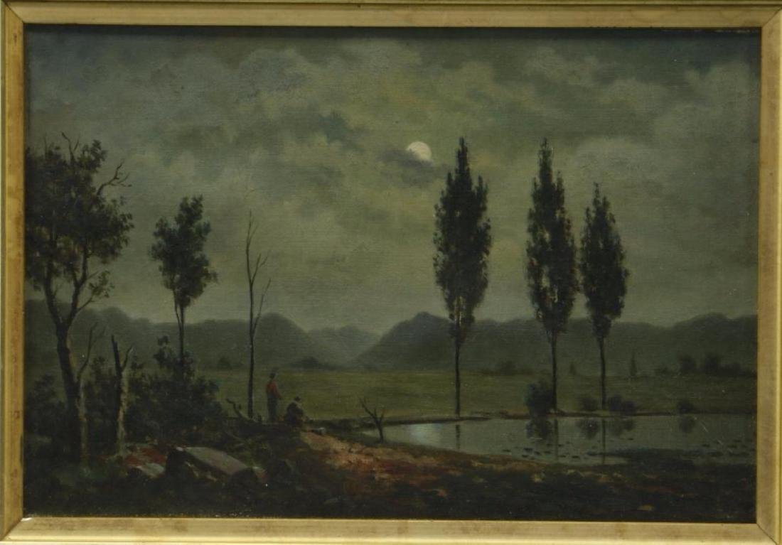 3 AMERICAN OIL LANDSCAPE PAINTINGS - 4