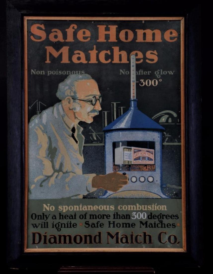 2 ADVERTISING POSTERS CIGARETTES & MATCHES - 2