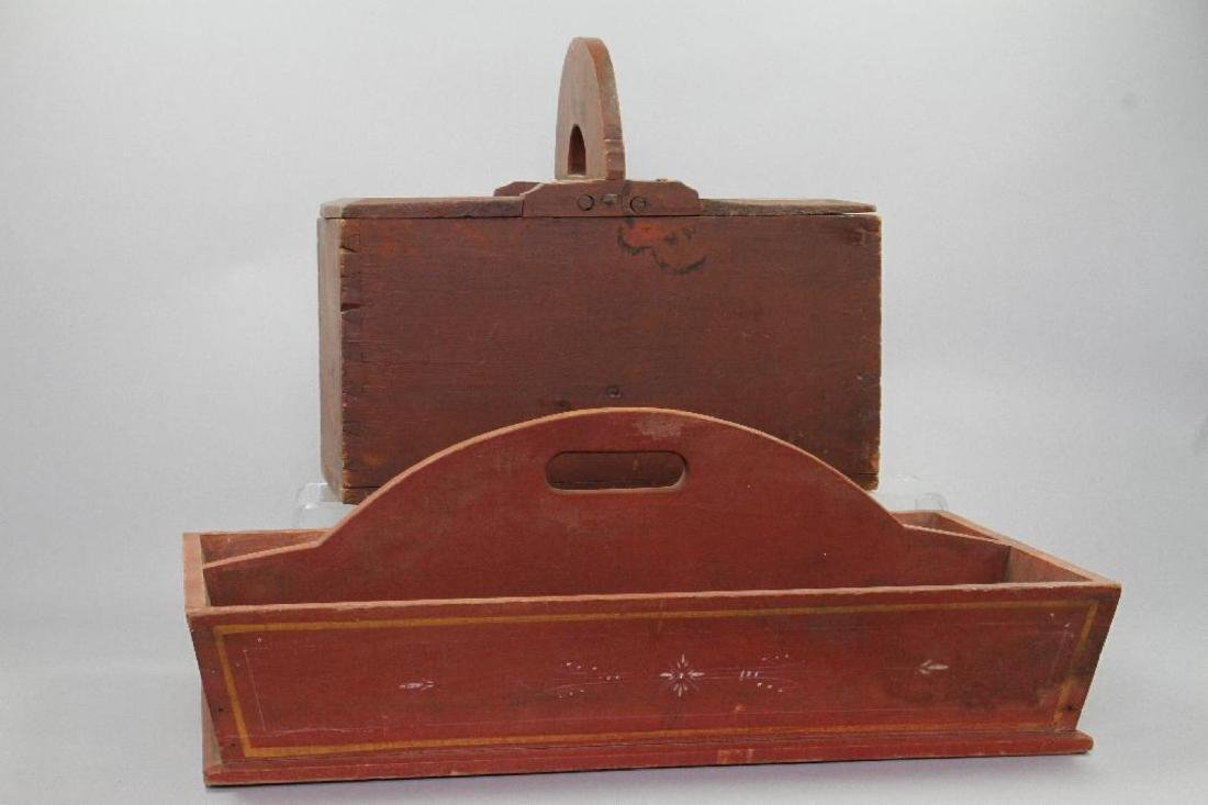 2 AMERICAN RED PAINTED PINE CARRIERS