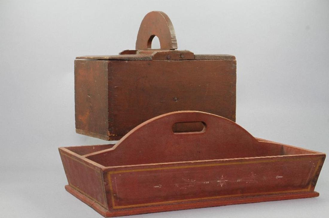 2 AMERICAN RED PAINTED PINE CARRIERS - 2