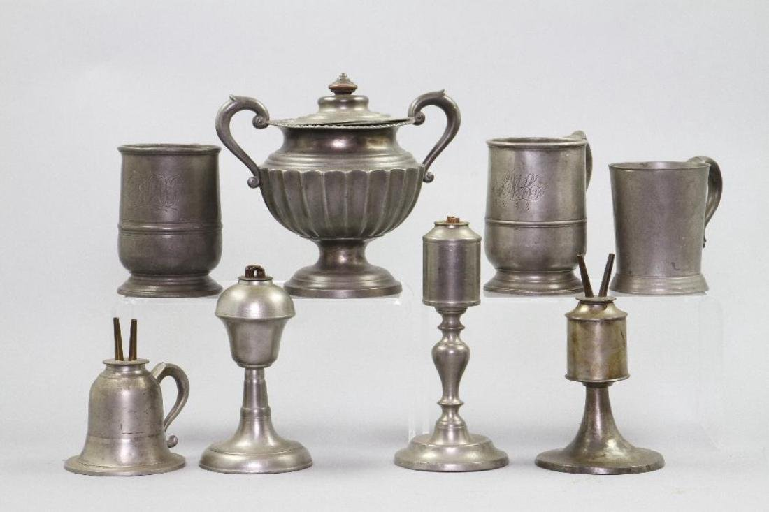 8 PIECES OF PEWTER