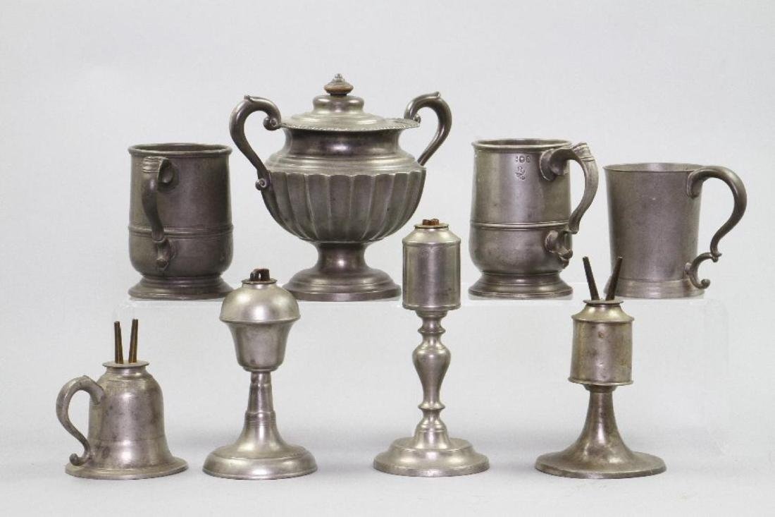 8 PIECES OF PEWTER - 2