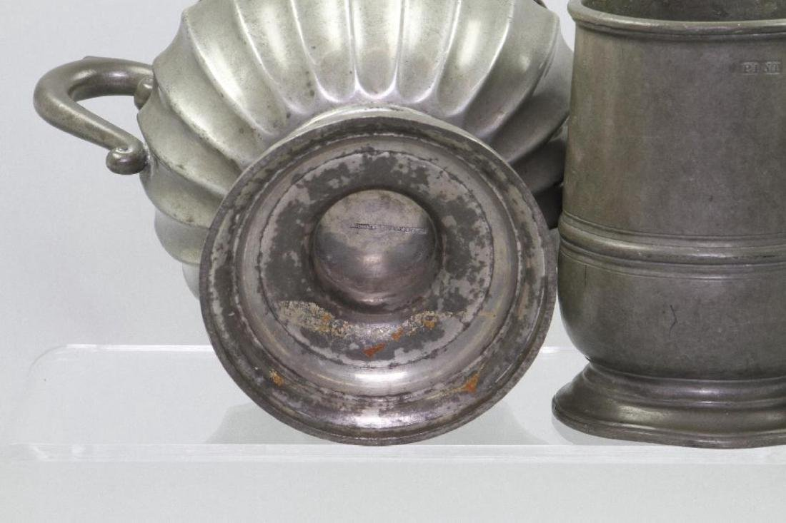 8 PIECES OF PEWTER - 4