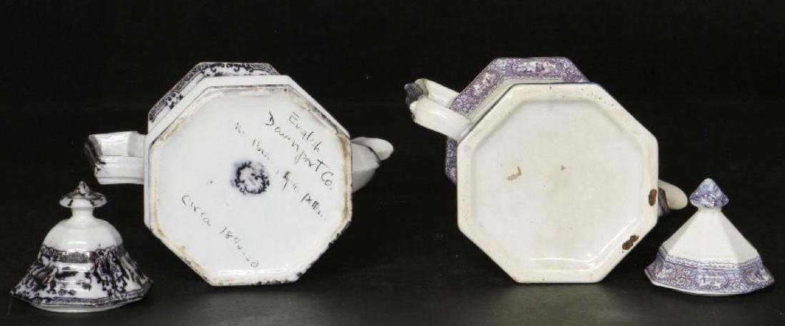 STAFFORDSHIRE DAVENPORT OCTAGONAL TEAPOT & ANOTHER - 3