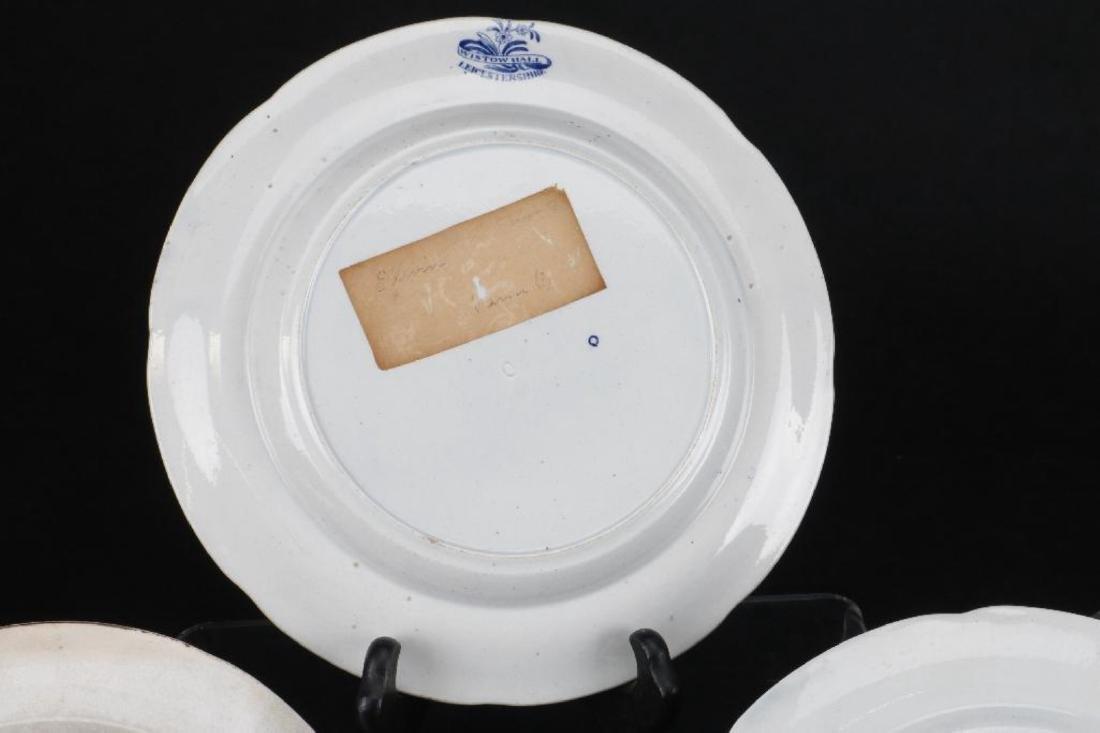5 STAFFORDSHIRE BLUE & WHITE TRANSFER PRINTED PLATES - 6