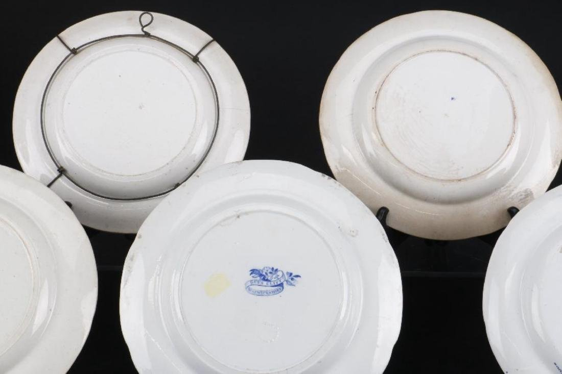 5 STAFFORDSHIRE BLUE & WHITE TRANSFER PRINTED PLATES - 4