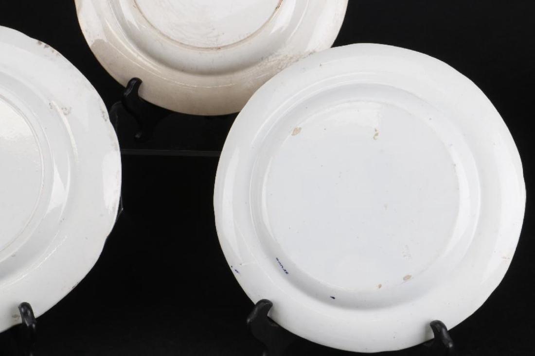 5 STAFFORDSHIRE BLUE & WHITE TRANSFER PRINTED PLATES - 5